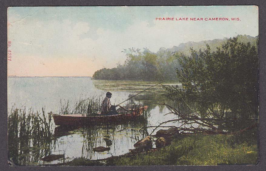 Image for Prairie Lake near Cameron WI postcard 1908