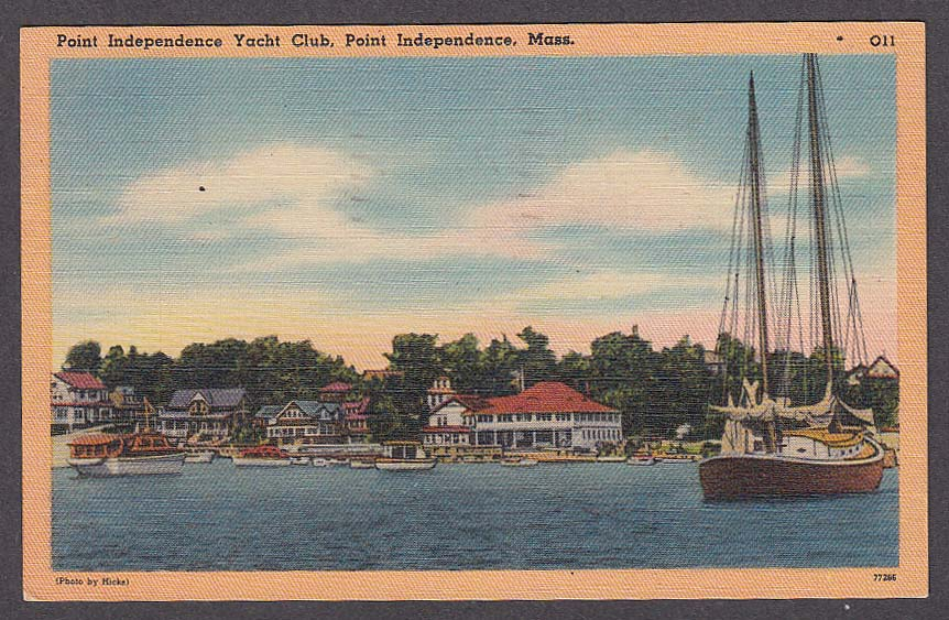 Image for Point Independence Yacht Club Point Independence MA postcard 1956