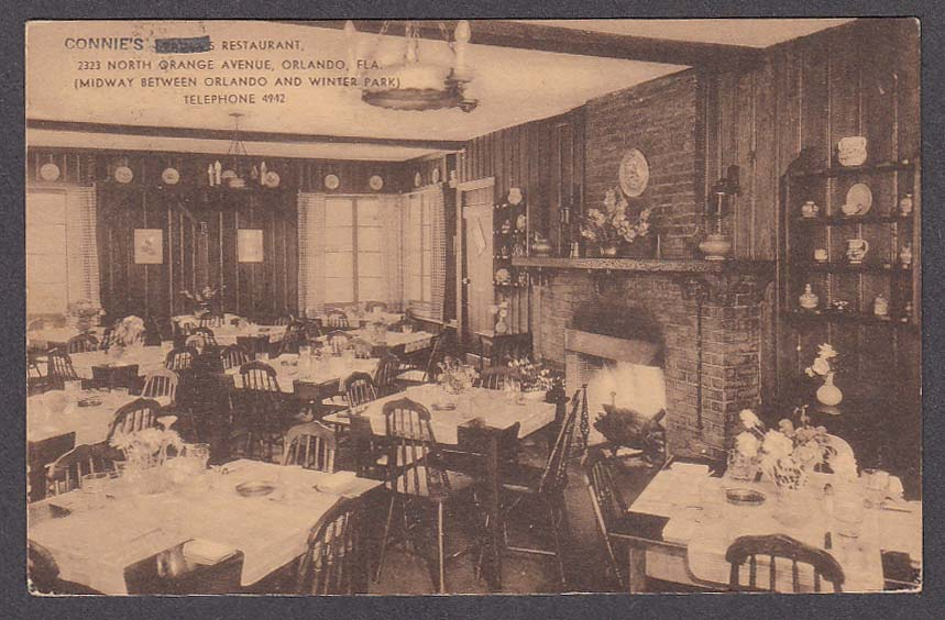 Image for Connie's Restaurant 2323 North Orange Avenue Orlando FL postcard 1938