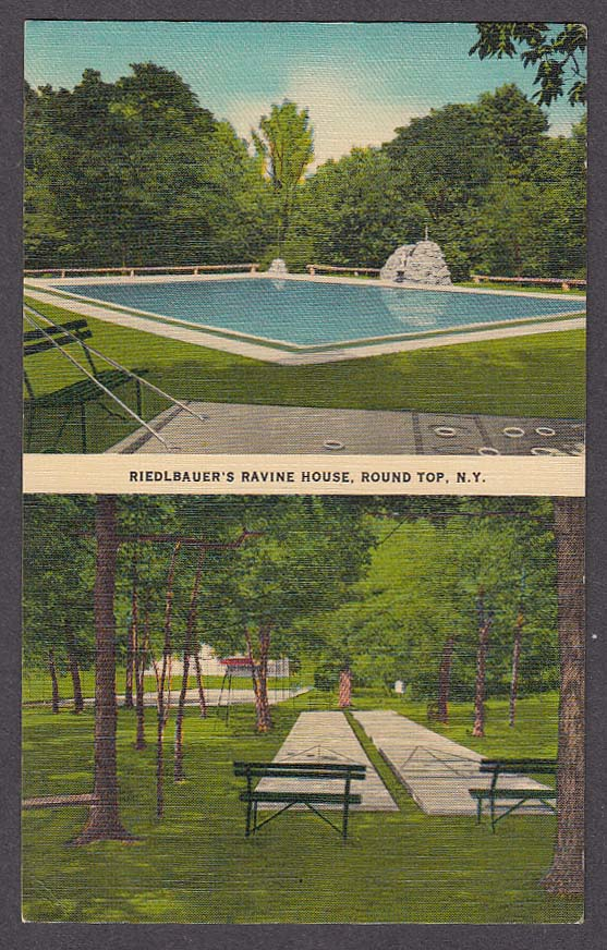 Image for Riedlbauer's Ravine House Round Top NY postcard 1967