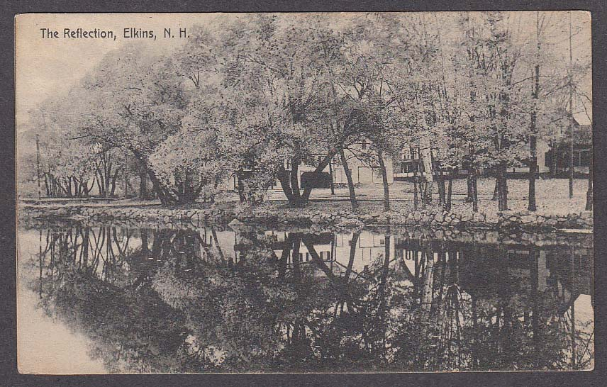 Image for The Reflection Elkins NH postcard 1914