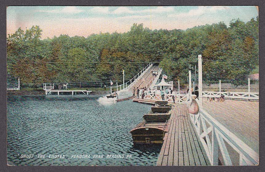 Image for Shoot the Shutes Pendora Park Reading PA postcard 1909