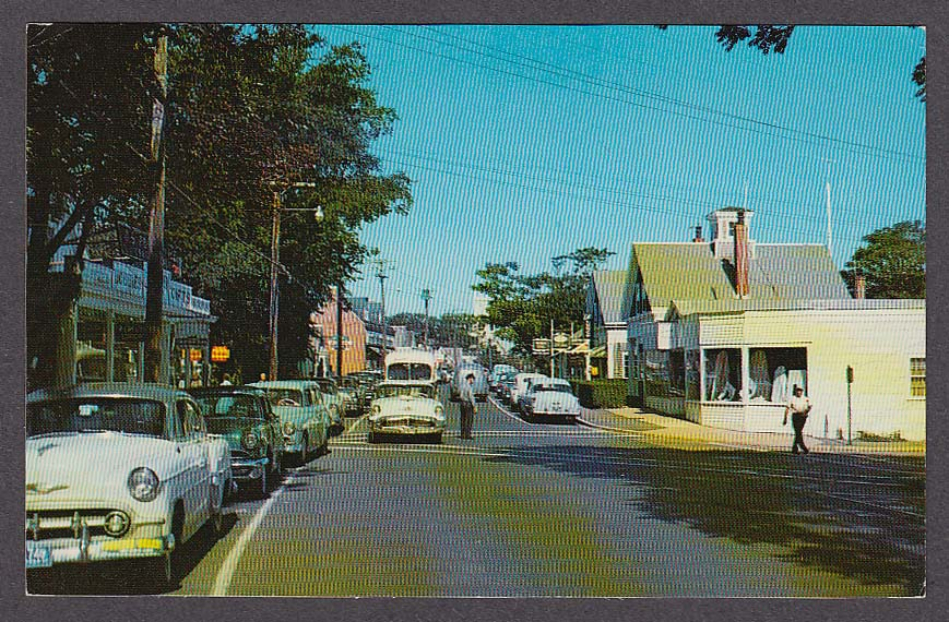 Image for Main Street Village of Chatham MA on Cape Cod postcard 1964
