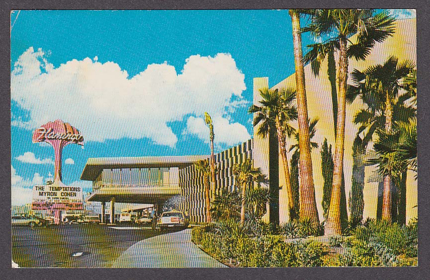 Image for Hotel Flamingo Las Vegas NV postcard 1960s The Temptations Myron Cohen