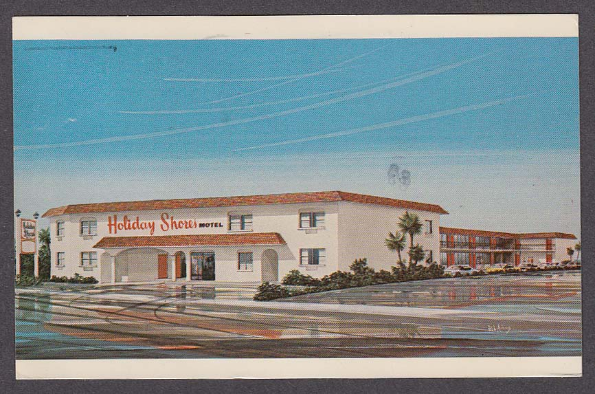 Image for Holiday Shores Motel 2617 S Atlantic Ave Daytona Beach FL postcard 1983