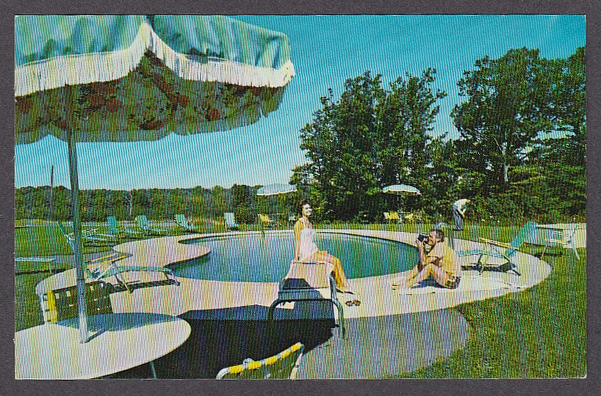 Charter House Motor Lodge Kittery ME postcard 1965