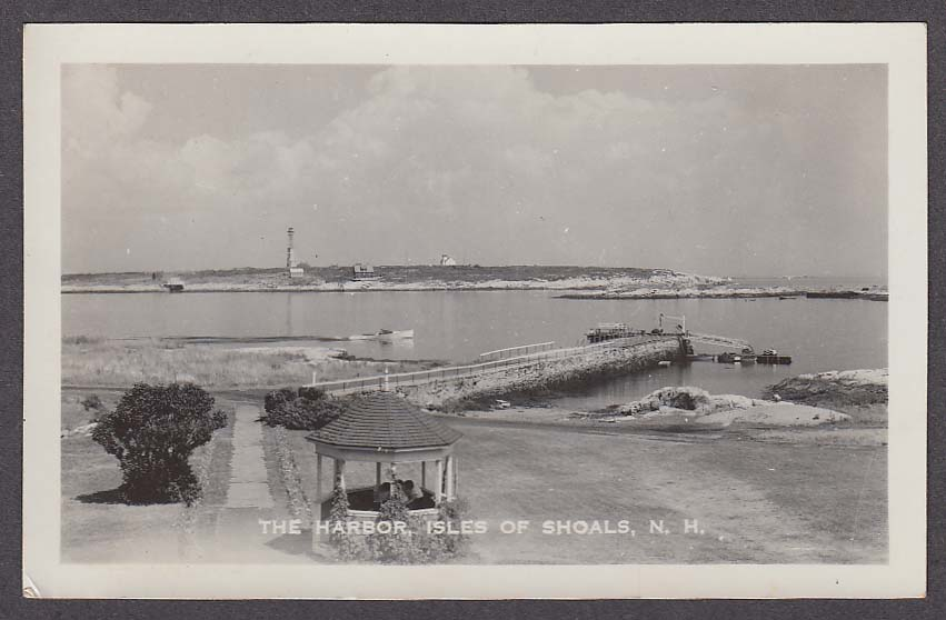 Image for The Harbor Isles of Shoals NH RPPC postcard 1961