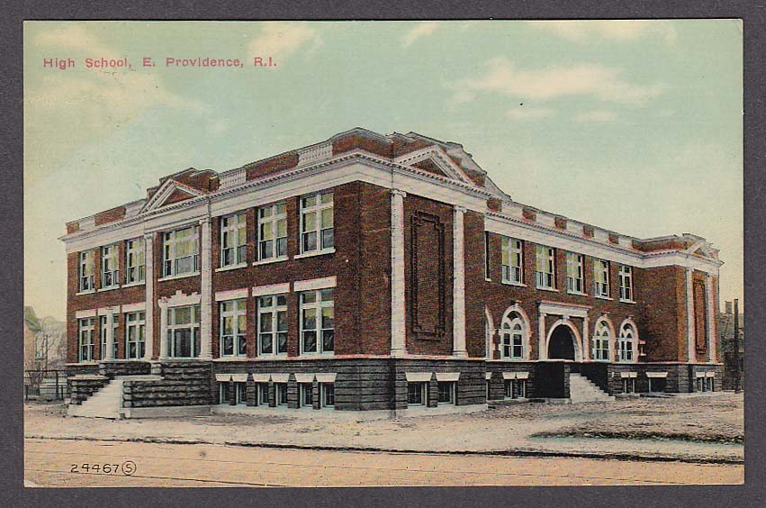 Image for High School East Providence RI postcard 1910s