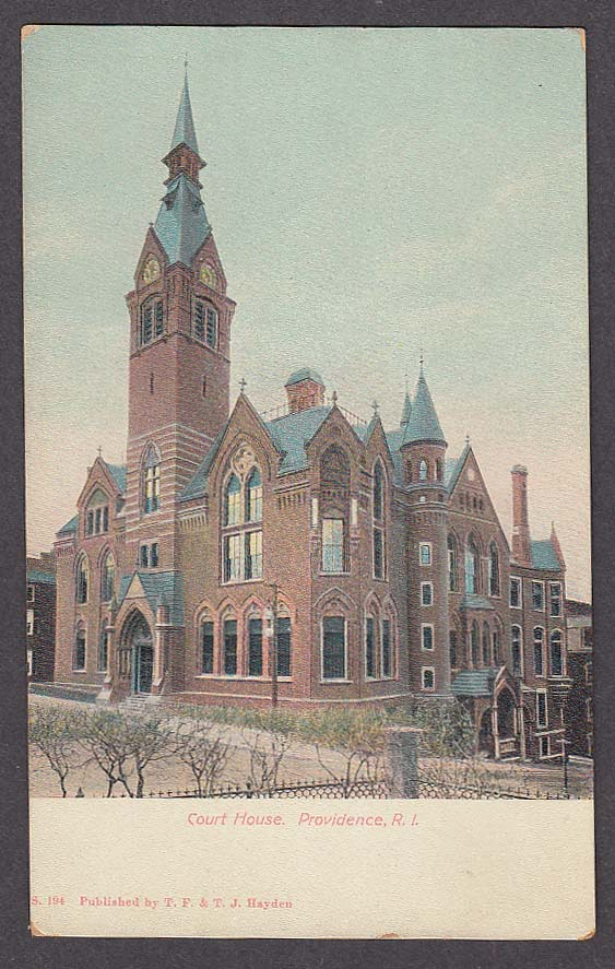 Image for Court House Providence RI undivided back postcard 1900s