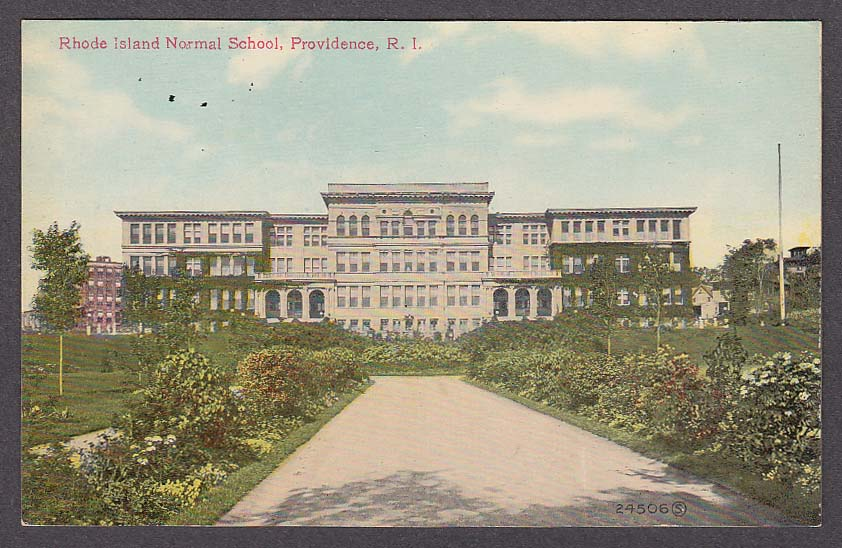 Image for Rhode Island Normal School Providence RI postcard 1910s