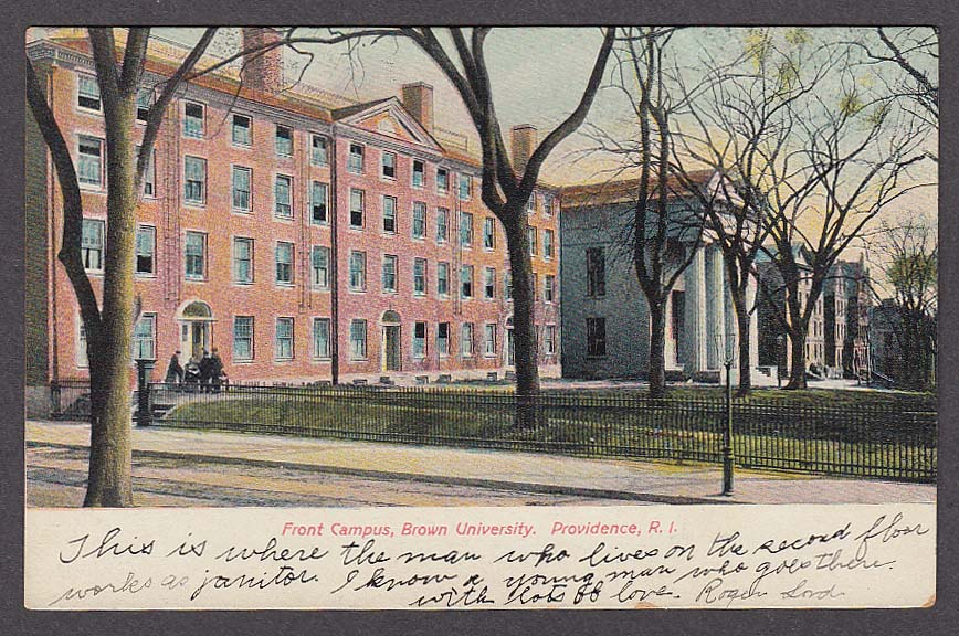 Image for Front Campus Brown University Providence RI undivided back postcard 1900s