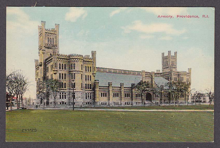 Image for Armory Providence RI postcard 1910s
