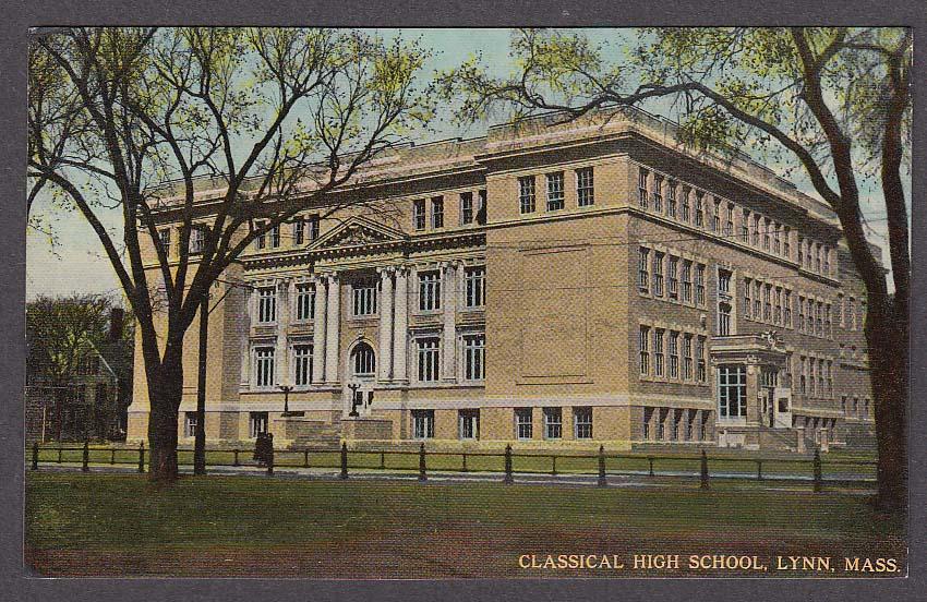 Image for Classical High School Lynn MA postcard 1912