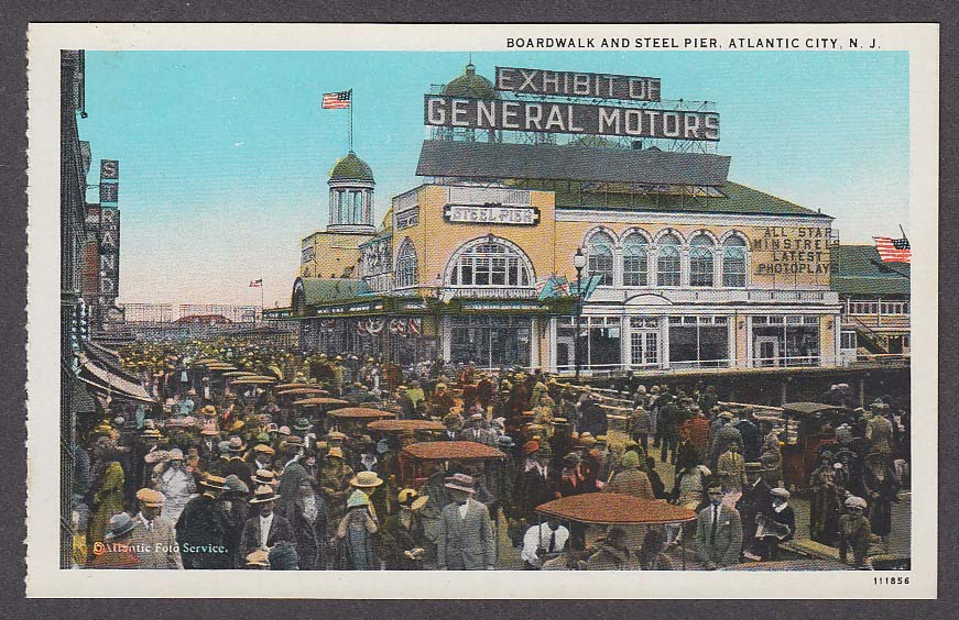 Image for Exhibit of General Motors Boardwalk & Steel Pier Atlantic City NJ postcard 1920s