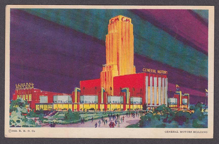 Image for General Motors Building Century of Progress 1933 postcard