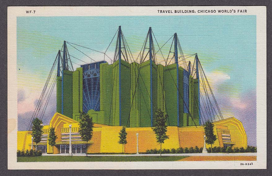Travel Building Chicago World's Fair 1933 postcard WF-7