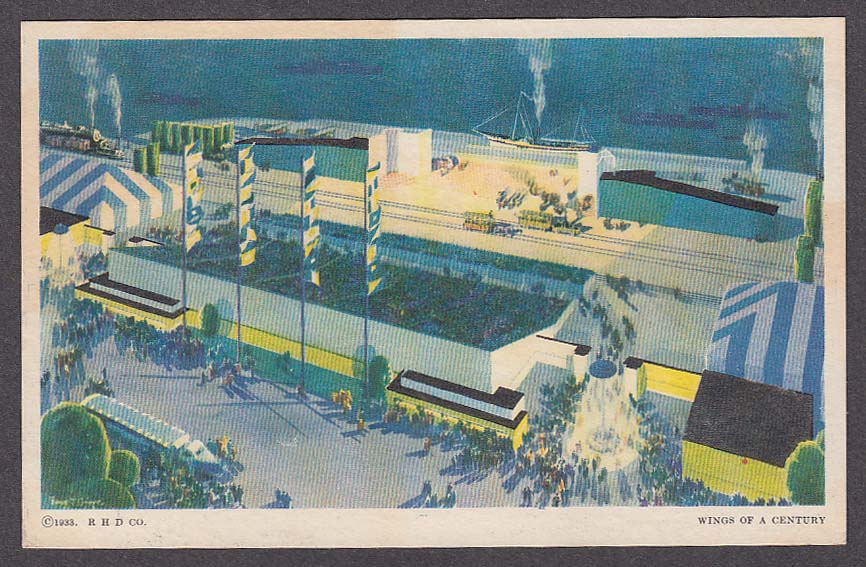 Image for Wings of a Century of Progress Chicago 1933 postcard