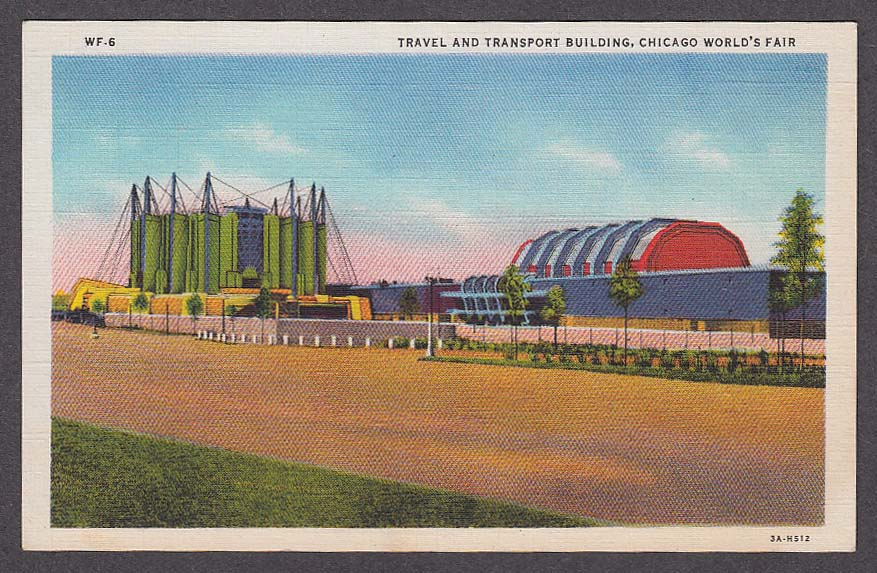 Image for Travel and Transport Building Chicago World's Fair 1933 postcard WF-6