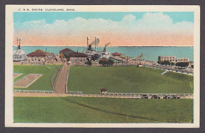 Image for C & B Docks Cleveland OH postcard 1930s