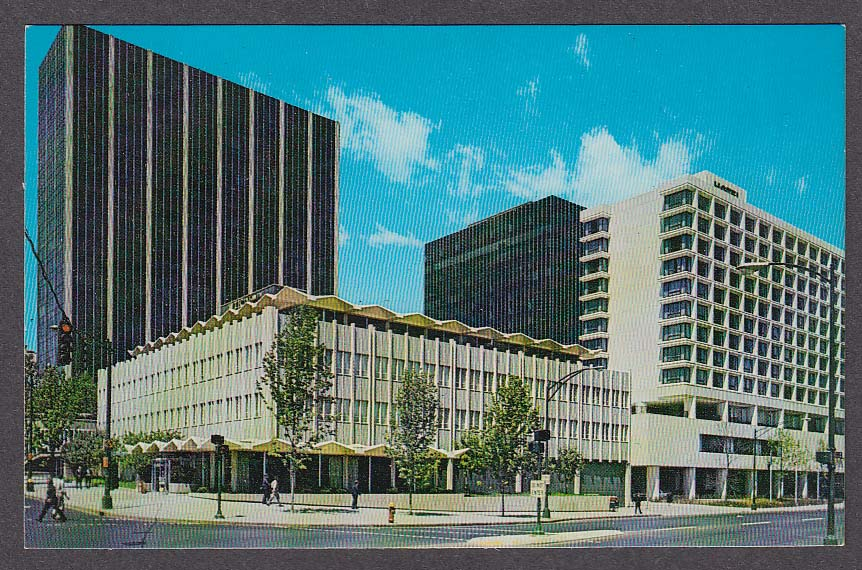 Image for Hartford CT Constitution Plaza State & Columbus postcard 1960s