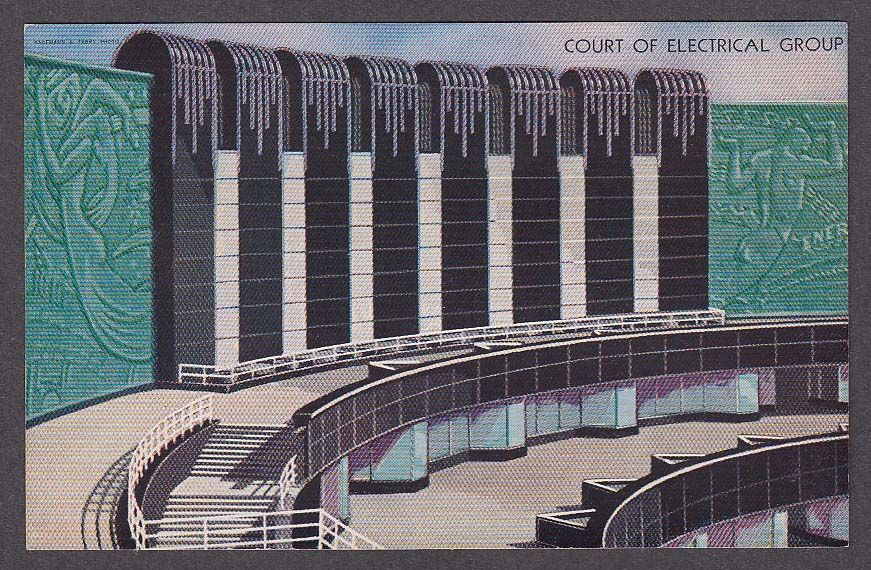 Image for Court of Electrical Group Century of Progress Chicago 1933 Expo postcard