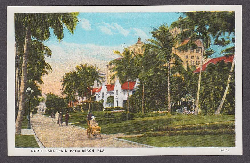 Image for North Lake Trail Palm Beach FL postcard 1920s