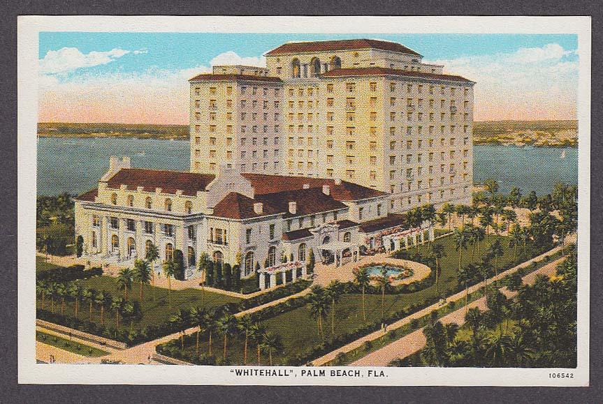 Image for Whitehall Palm Beach FL postcard 1920s