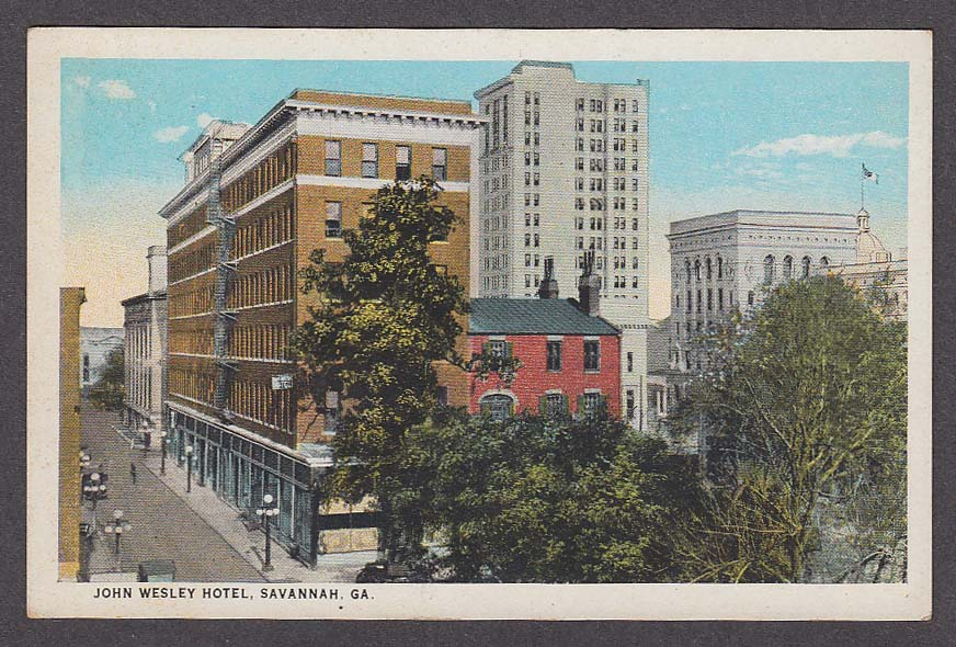 Image for John Wesley Hotel Savannah GA postcard 1910s