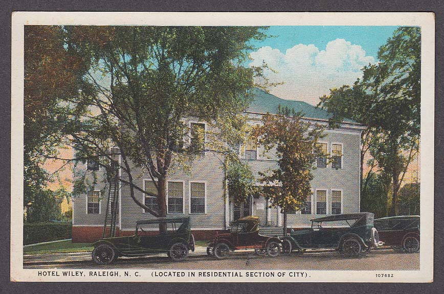 Image for Hotel Wiley Raleigh NC postcard 1910s