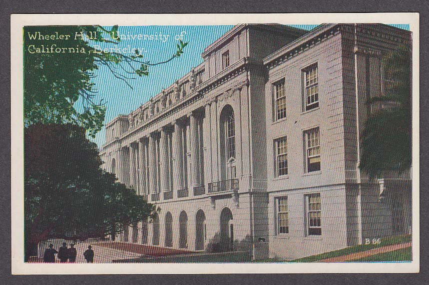Image for Wheeler Hall University of California Berkeley CA postcard 1910s
