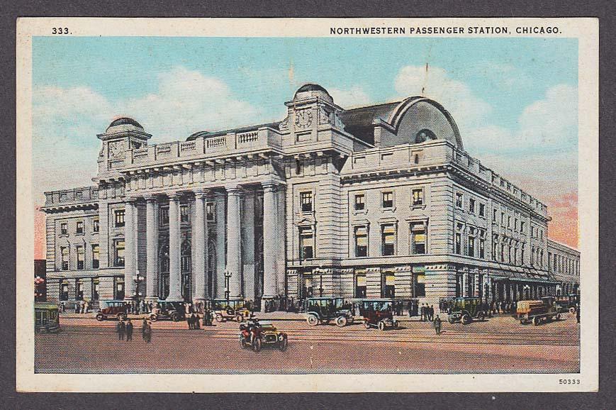 Image for Northwestern Passenger Station Chicago IL postcard 1910s