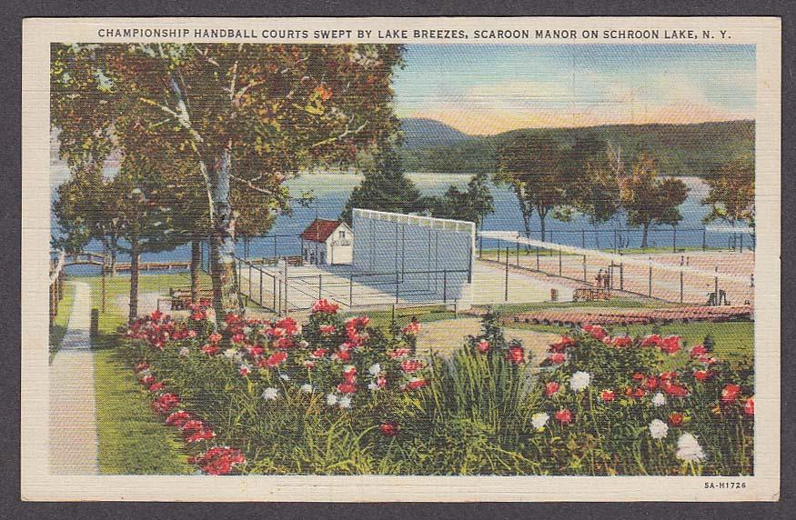 Image for Championship Handball Courts Scaroon Manor Schroon Lake NY postcard 1930s