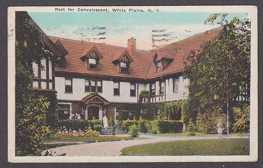 Image for Rest for Convalescent White Plains NY postcard 1923