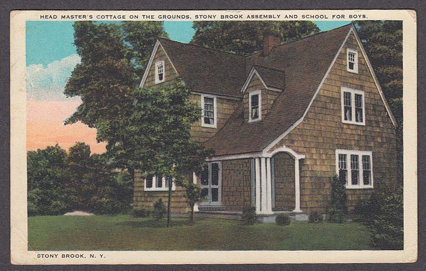 Image for Head Master's Cottage Stony Brook Assembly & School for Boys NY postcard 1980