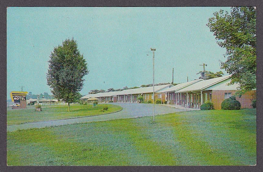 Ingleside Motel Athens TN postcard 1960s