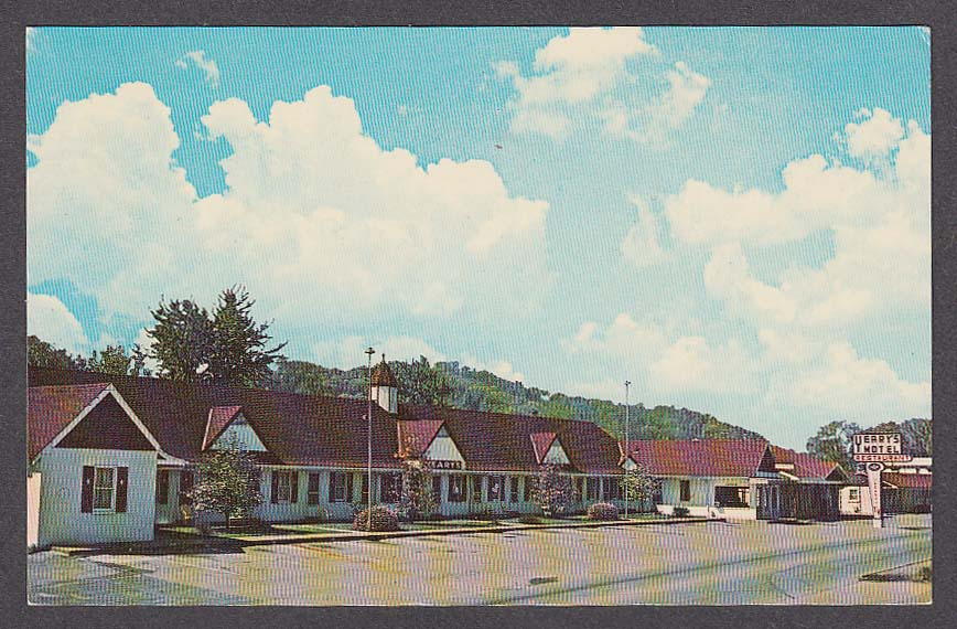 Yeary's Motel Inc & Restaurant 107 18th Street Corbin KY postcard 1960s