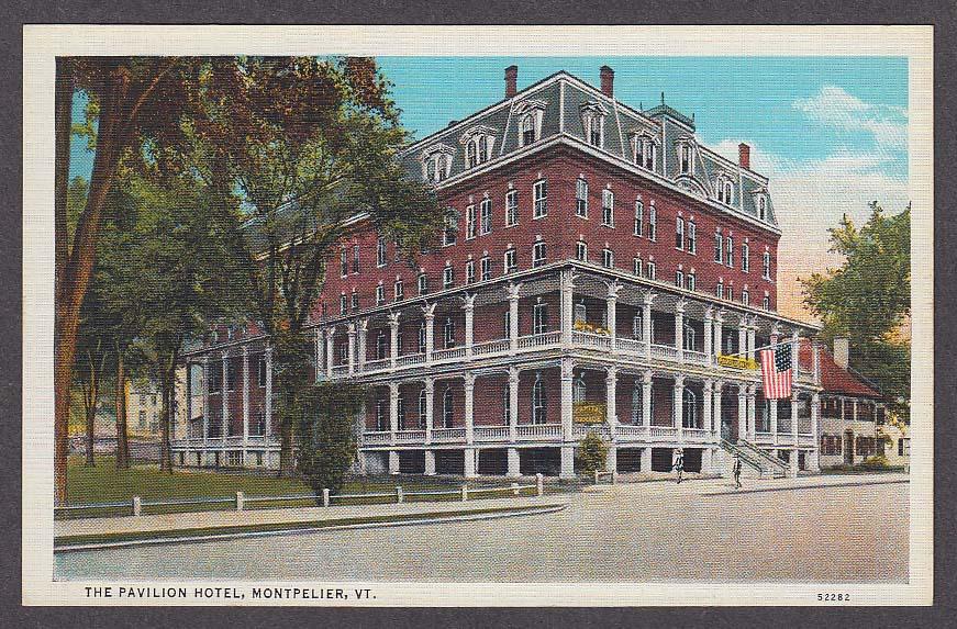 Image for The Pavilion Hotel Montpelier VT postcard 1930s