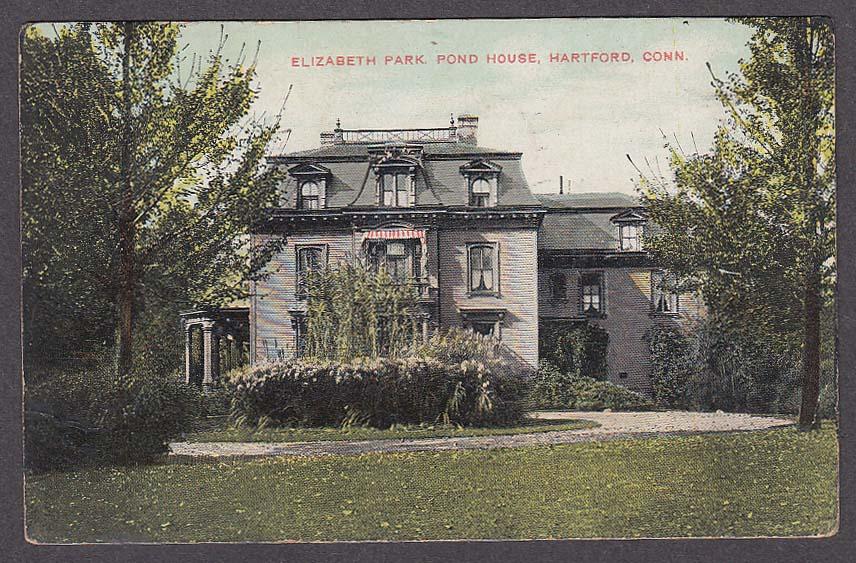 Elizabeth Park Pond House Hartford CT postcard 1907