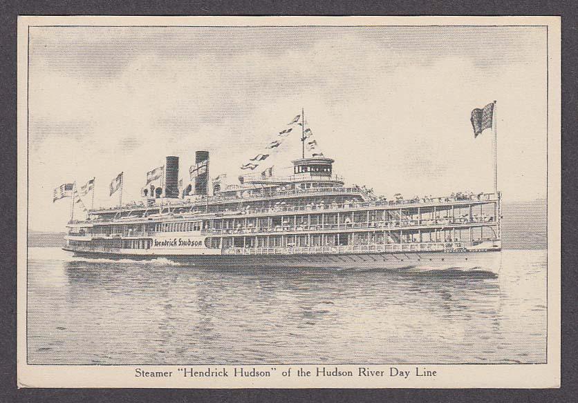 Steamer Hendrick Hudson of the Hudson River Day Line postcard 1910s