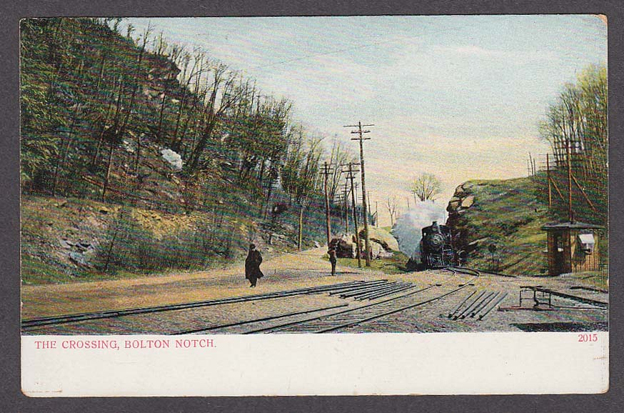 The Crossing Bolton Notch CT undivided back postcard 1900s