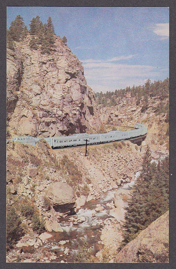 Vista-Dome California Zephyr South Boulder Canyon Colorado Rockies postcard 1950
