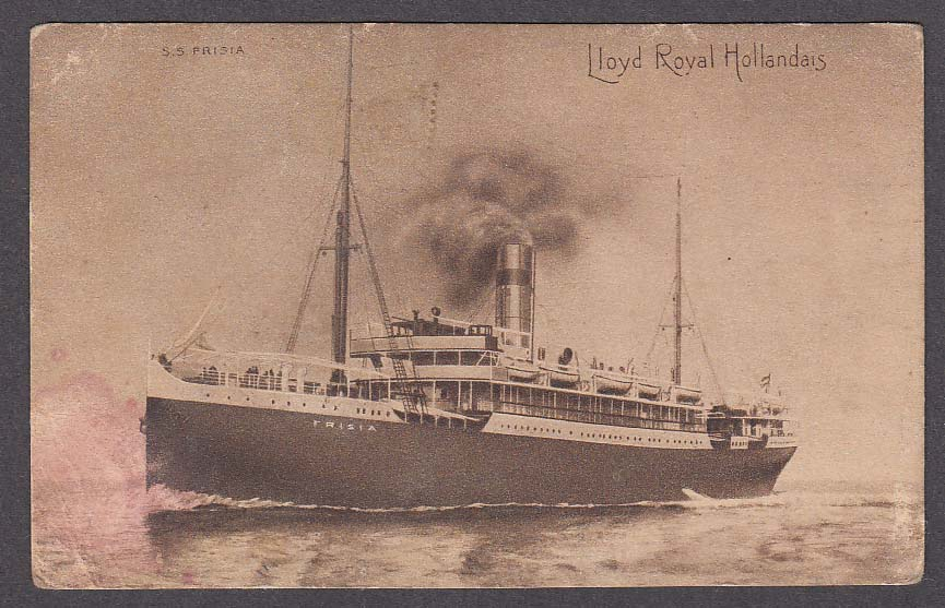 SS Frisia Lloyd Royal Hollandais postcard 1910s