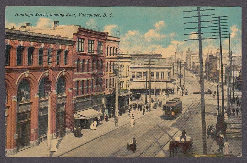 Knowlton Druggist Hastings St Vancouver British Columbia Canada postcard 1910s