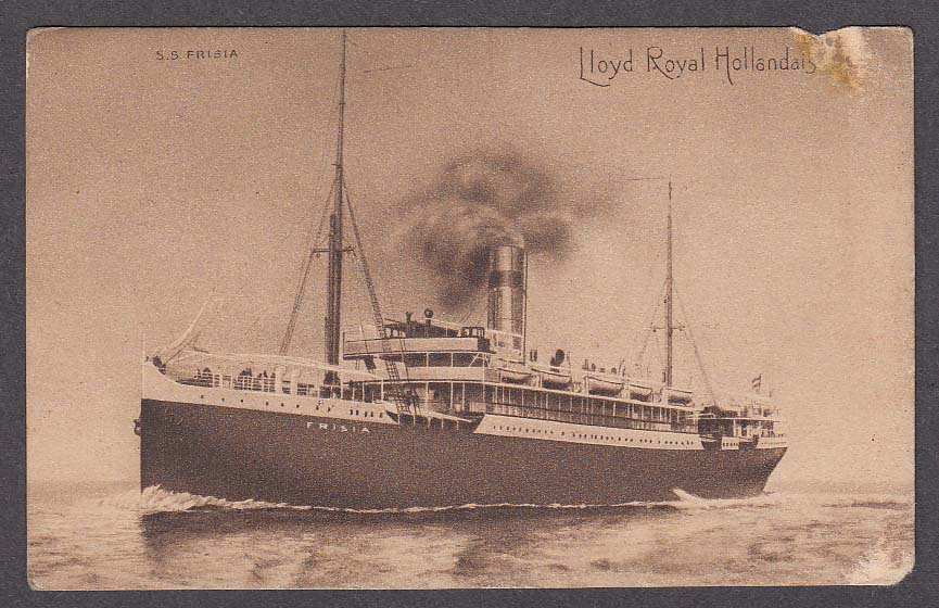 Lloyd Royal Hollandais Line SS Frisia ocean liner postcard 1910s