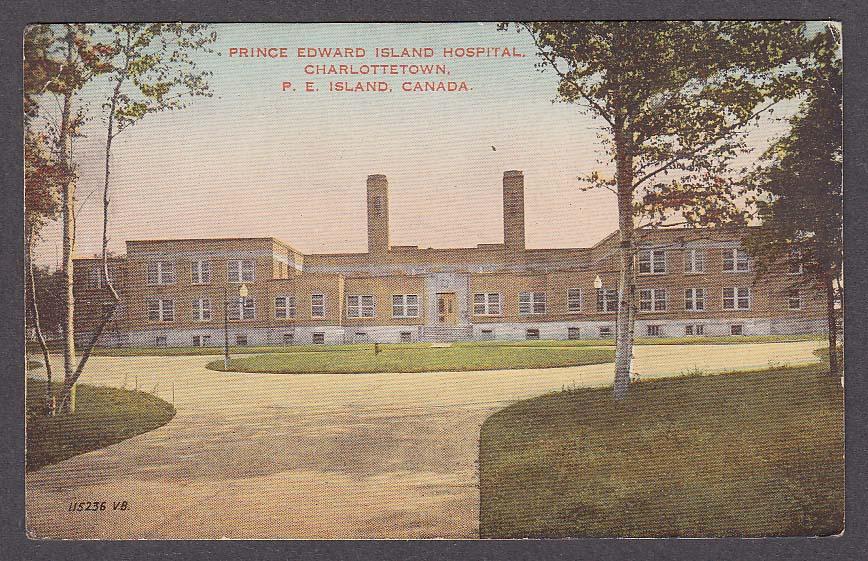 Prince Edward Island Hospital Charlottetown PEI Canada postcard 1940
