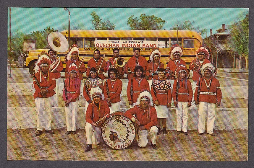 Quechan Indian Band Yuma AZ postcard 1950s