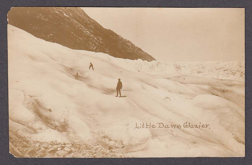 Little Dawes Glacier Daws Glazier AK RPPC postcard 1920s