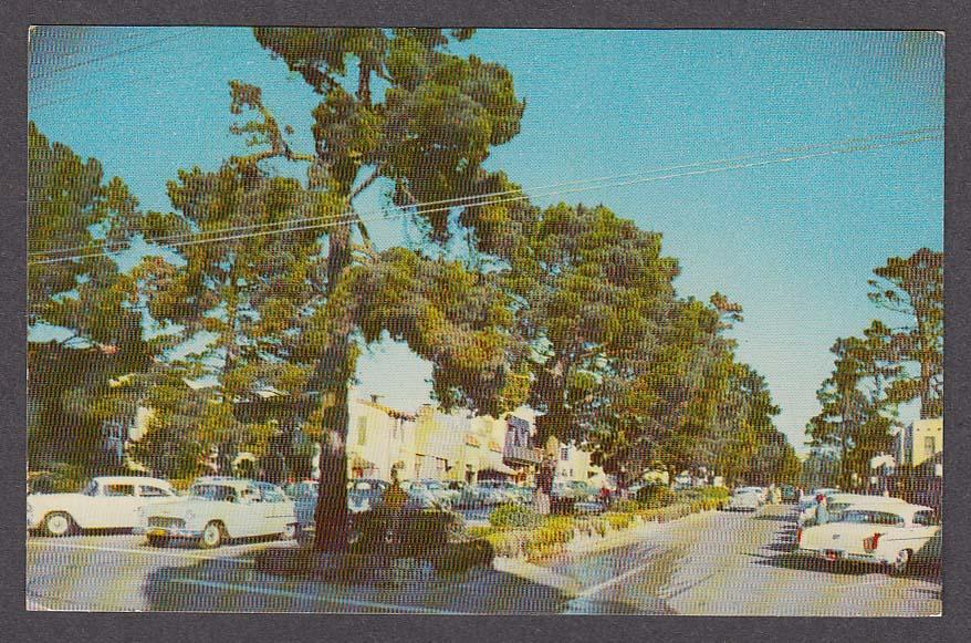 Ocean Avenue Carmel CA postcard 1950s