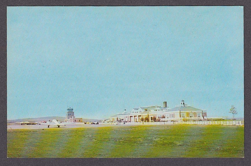 Municipal Airport Worcester MA postcard 1950s