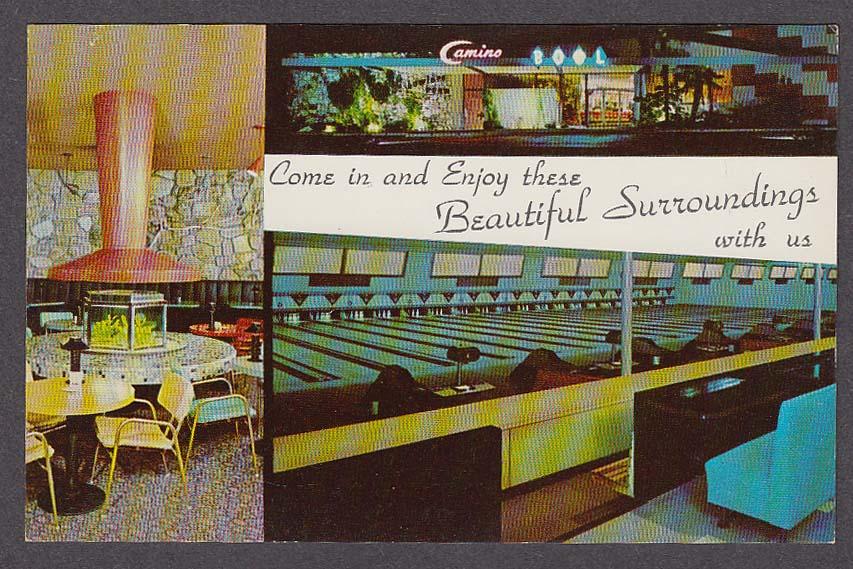 Camino Bowl 2025 El Camino Real Mountain View CA postcard 1950s